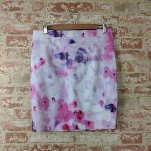 Lila Rose Watercolor Floral Pencil Skirt 8